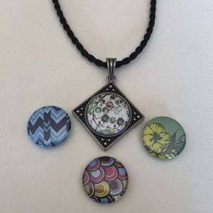 💜Vintage Magnabilities interchangeable necklace.